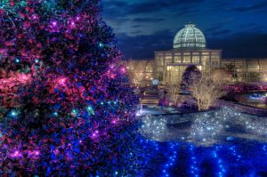 Lewis Ginter Botanical Gardens Christmas lights