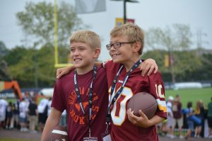 Kids at Redskins training camp