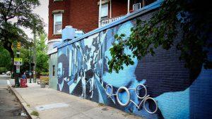 Street art mural by Ed Trask