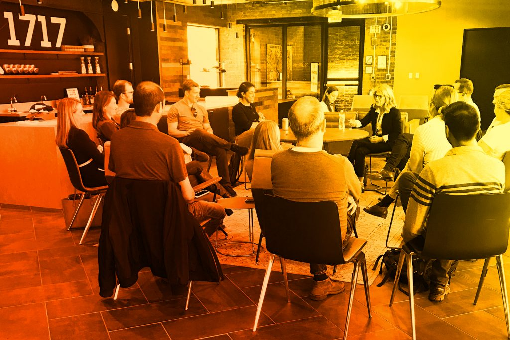 Startup Virginia members engage in group discussion
